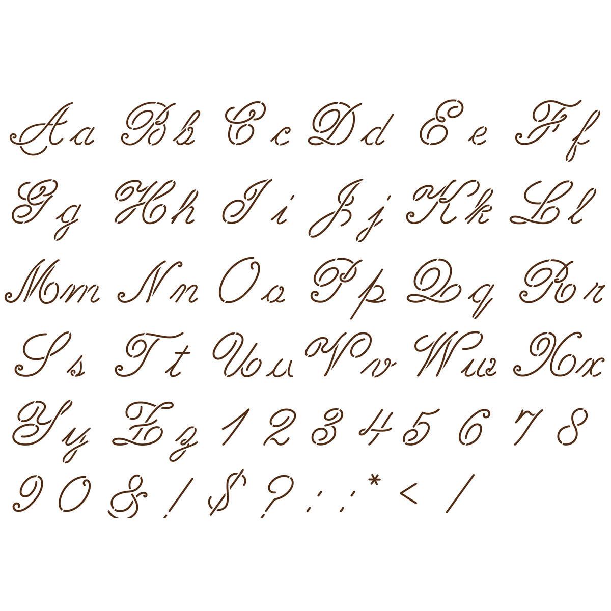 Old fashioned handwriting alphabet 24