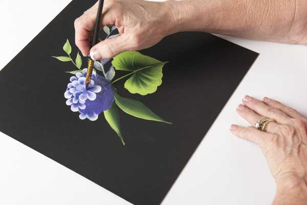 How to Paint a Hydrangea