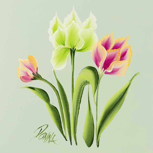 How to Paint Parrot Tulips