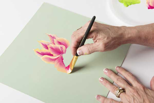 How to Paint Parrot Tulip Blooms