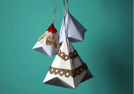 Ornamento del pájaro de la Navidad de DIY