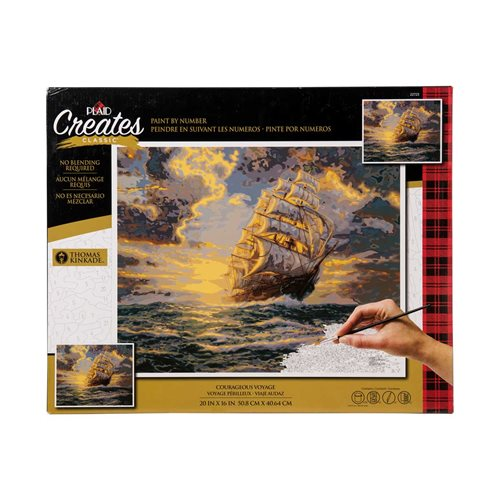 Plaid ® Paint by Number - Thomas Kinkade™ - Courageous Voyage