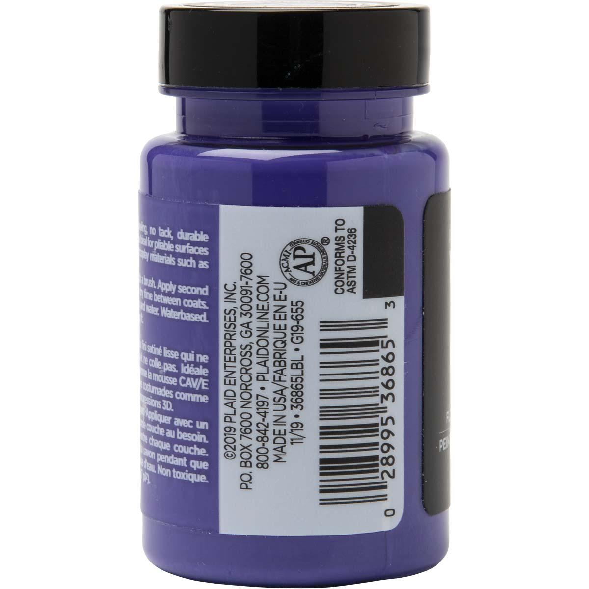 PlaidFX Smooth Satin Flexible Acrylic Paint - Voodoo Violet, 3 oz. - 36865