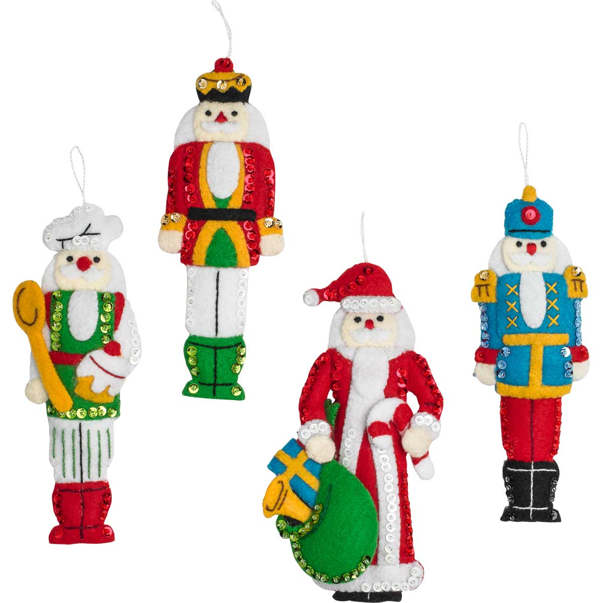 Bucilla ® Seasonal - Felt - Ornament Kits - Hallmark - Christmas Classic Nutcracker - 86967E