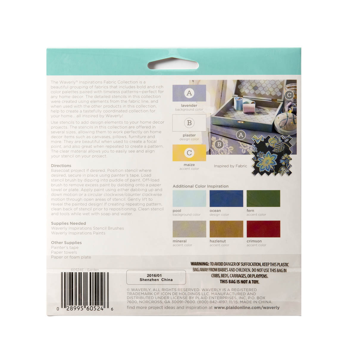 Waverly ® Inspirations Laser Stencils - Accent - Garden, 6