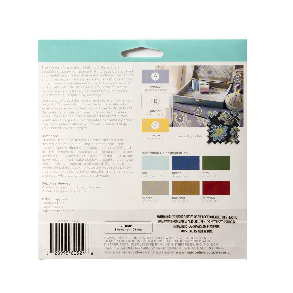 Waverly ® Inspirations Laser Stencils - Accent - Garden, 6