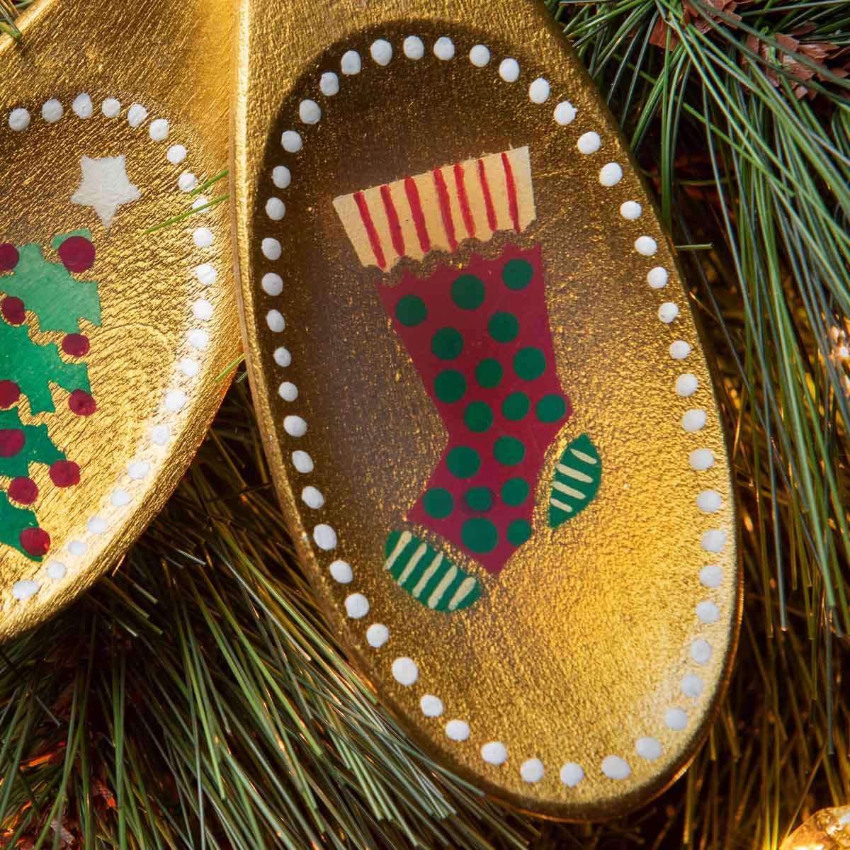 Wooden Spoon Ornaments