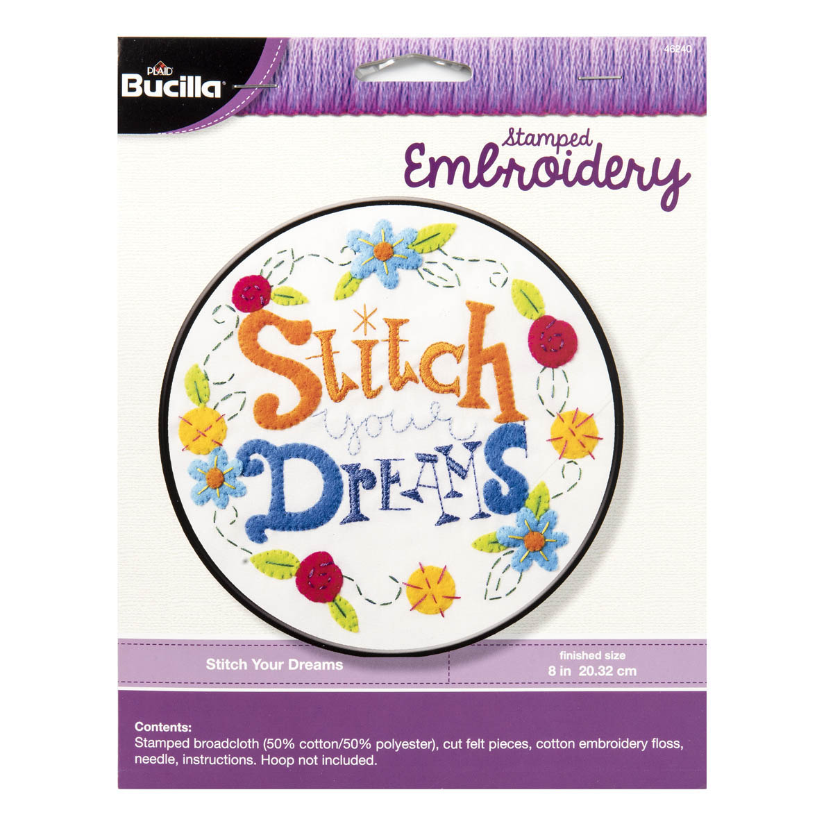 Shop Plaid Bucilla Stamped Embroidery Stitch Your Dreams 46240