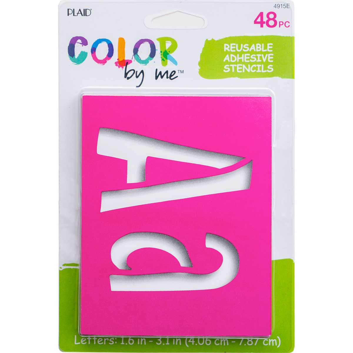 Plaid ® Color By Me™ Adhesive Stencils - Sweets Letters