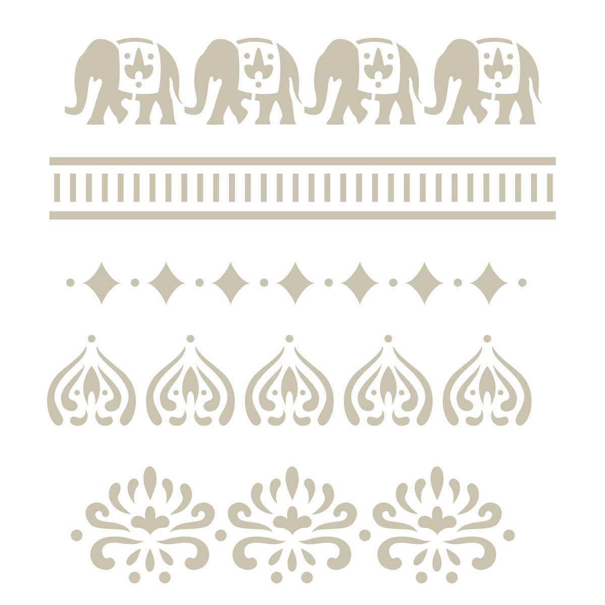FolkArt ® Handmade Charlotte™ Stencils - Alibaba - 30946
