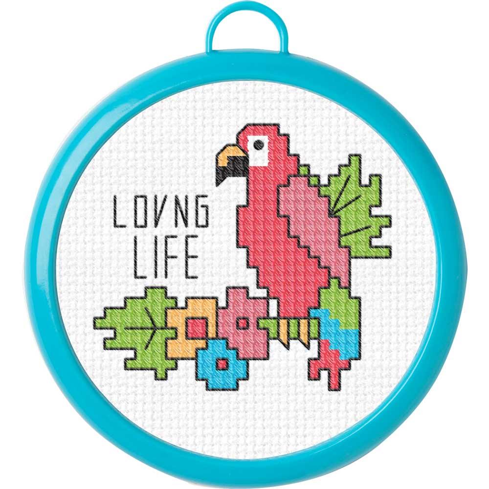 Bucilla ® My 1st Stitch™ - Counted Cross Stitch Kits - Mini - Loving Life - 49175E