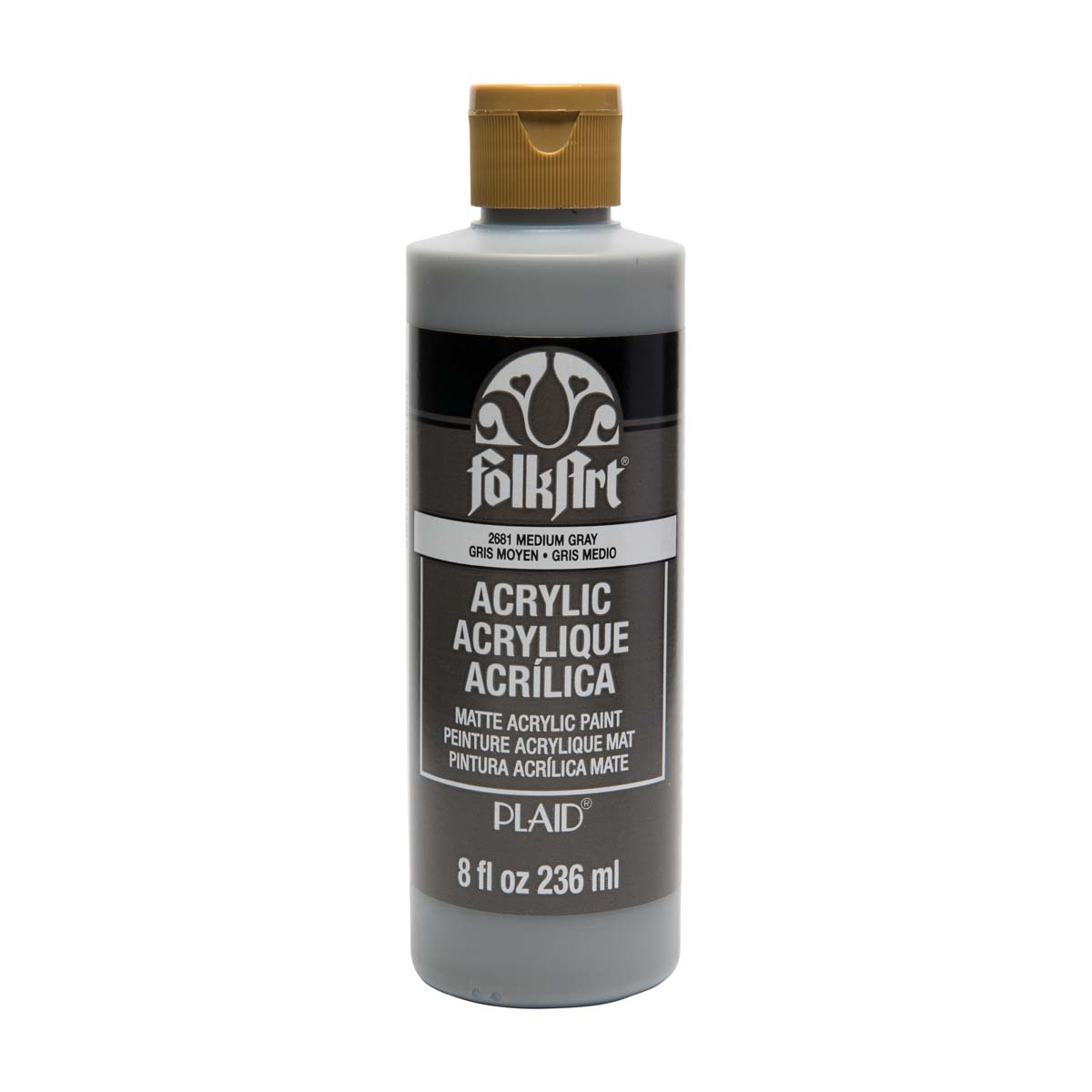 FolkArt ® Acrylic Colors - Medium Gray, 8 oz. - 2681