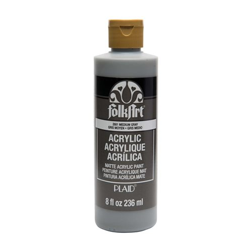 FolkArt ® Acrylic Colors - Medium Gray, 8 oz. - 2681