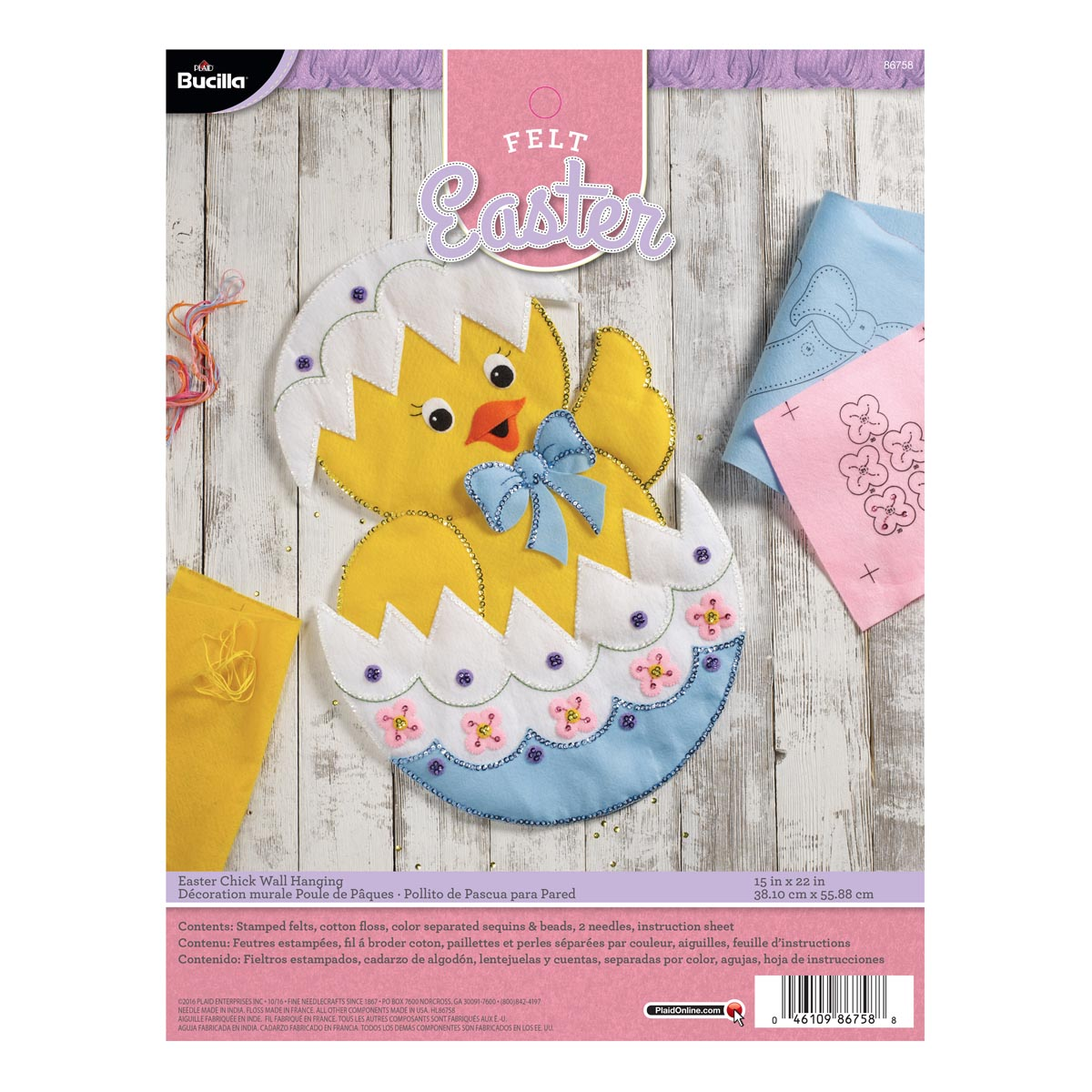 Bucilla ® Seasonal - Felt - Home Decor - Door/Wall Hanging Kits - Easter Chick