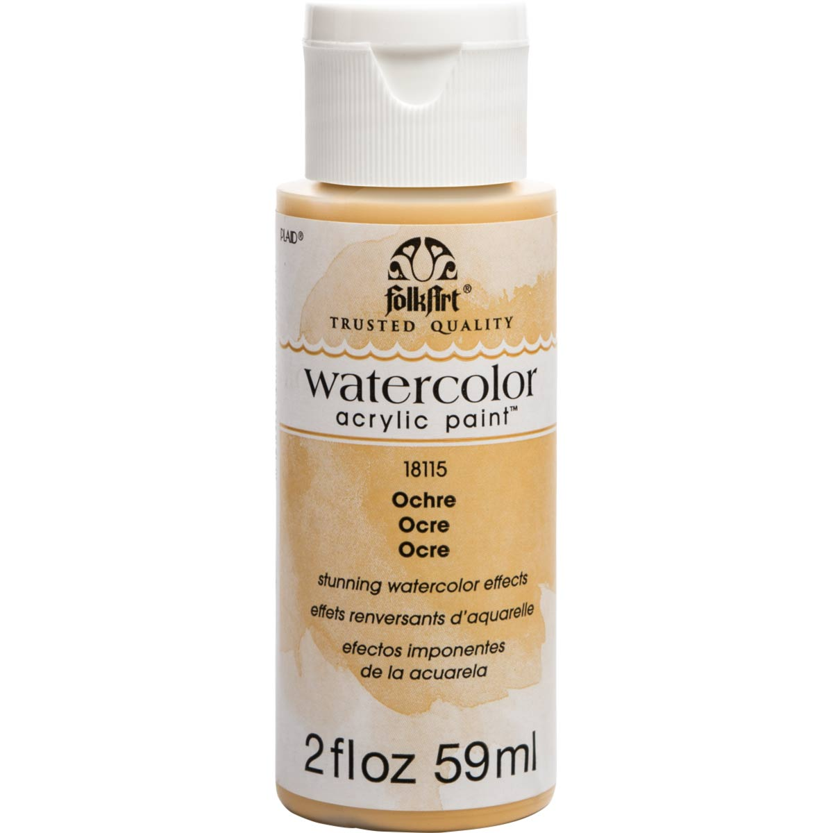 FolkArt ® Watercolor Acrylic Paint™ - Ochre, 2 oz.