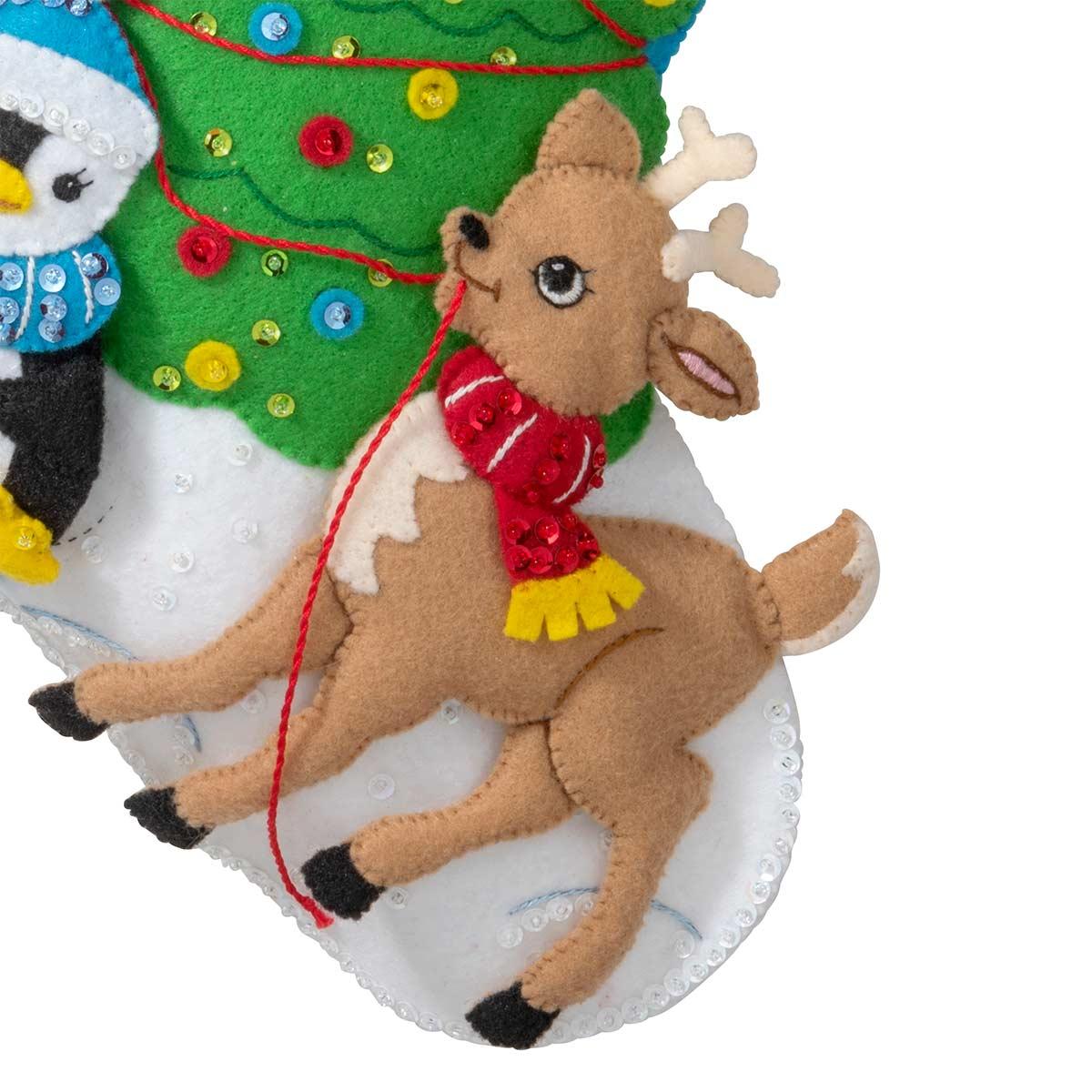 Bucilla ® Seasonal - Felt - Stocking Kits - Tree Party - 89259E