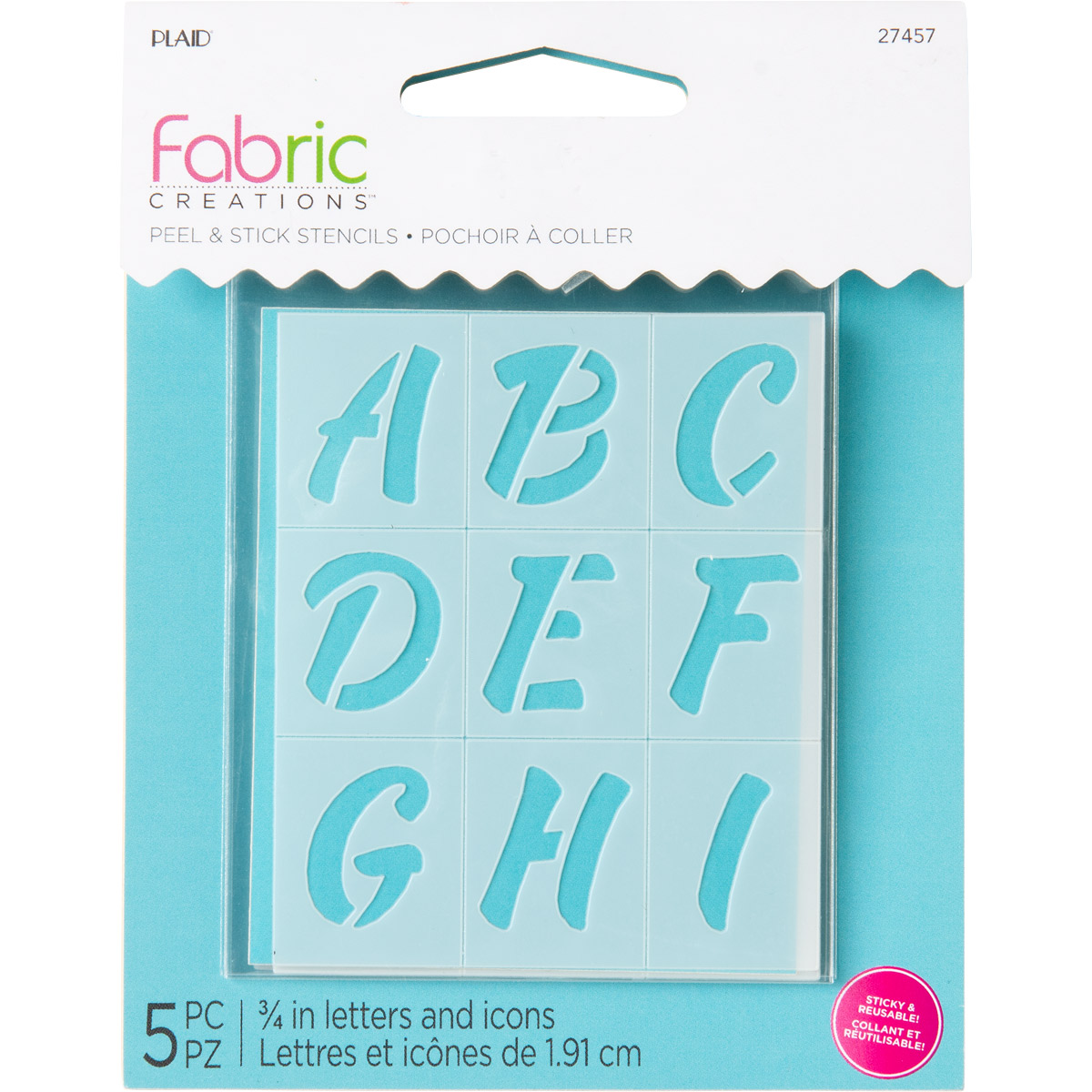Fabric Creations™ Adhesive Stencils - Mini - Alphabet Sweets, 2-1/2