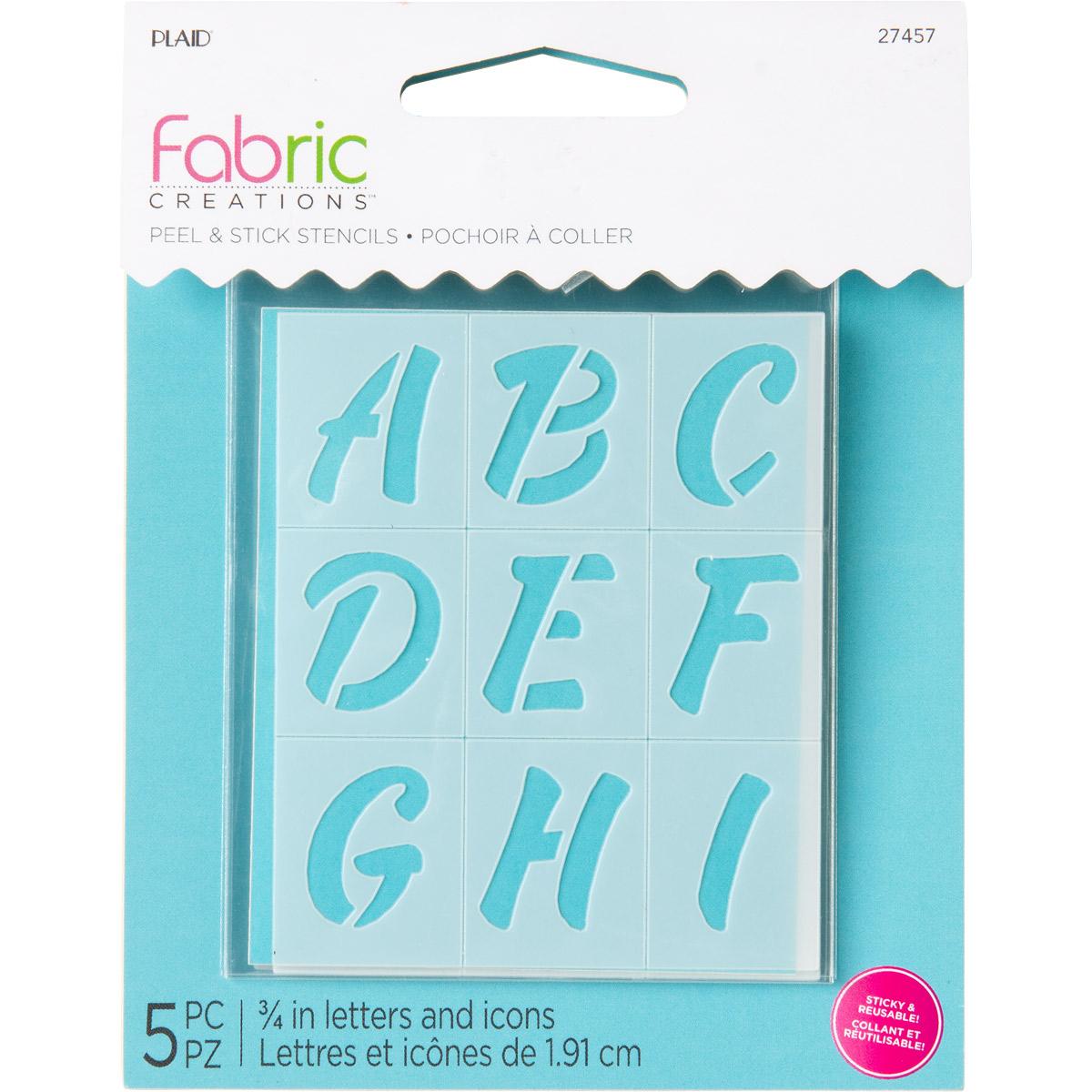 Fabric Creations™ Adhesive Stencils - Mini - Alphabet Sweets, 2-1/2