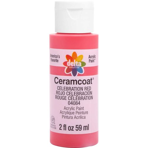 Delta Ceramcoat ® Acrylic Paint - Celebration Red, 2 oz.