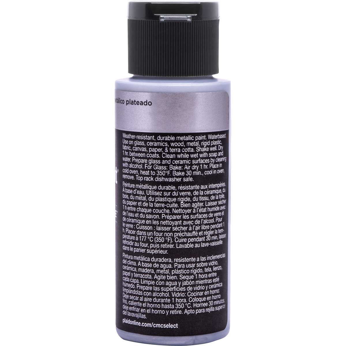 Delta Ceramcoat ® Select Multi-Surface Acrylic Paint - Metallic - Silver, 2 oz. - 04112