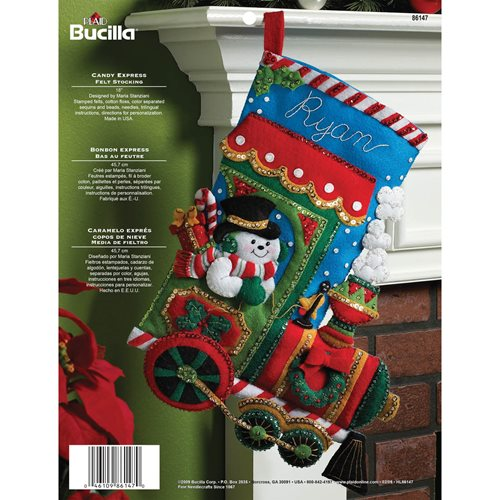 Bucilla ® Seasonal - Felt - Stocking Kits - Christmas Candy Express
