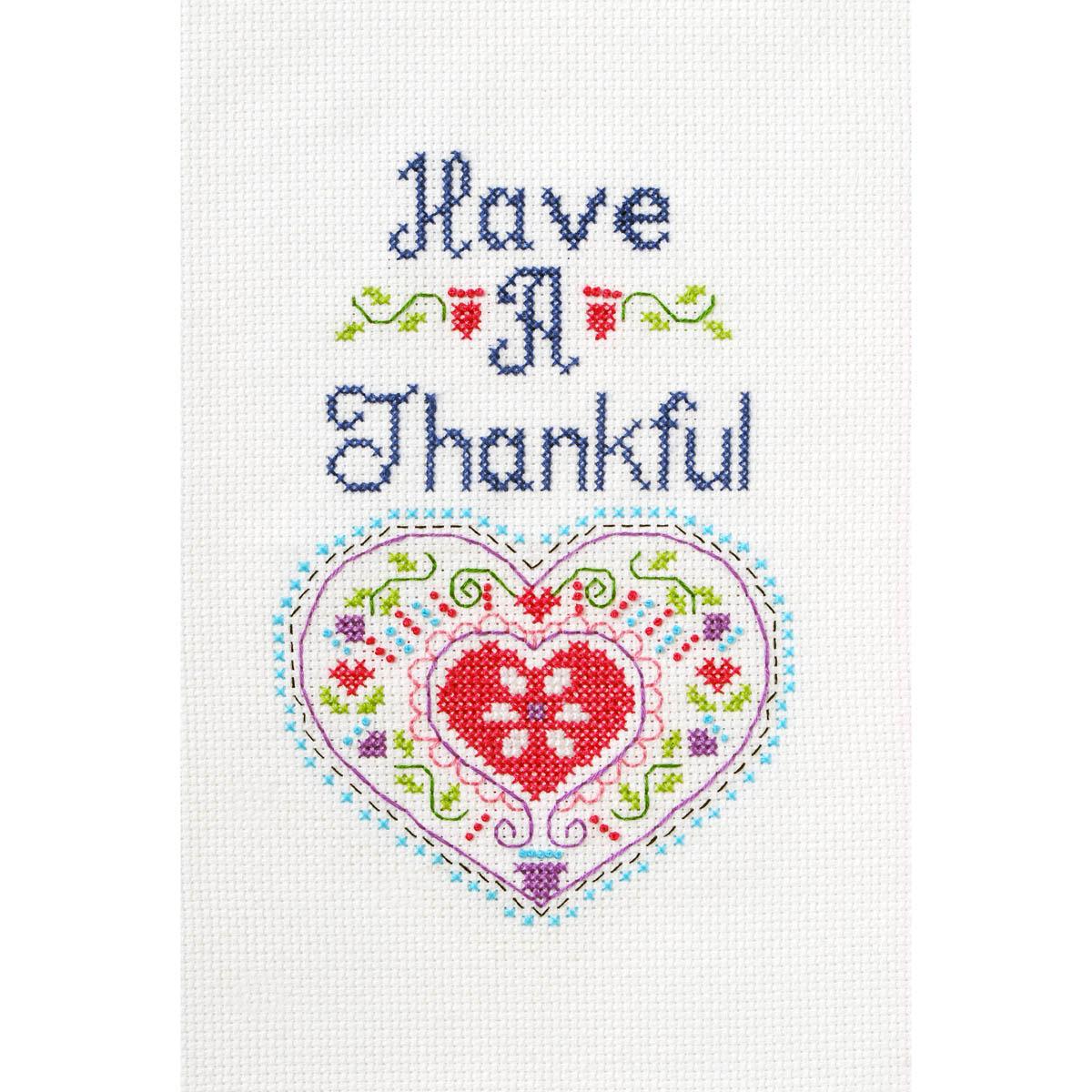 Bucilla ® My 1st Stitch™ - Counted Cross Stitch Kits - Have a Thankful Heart