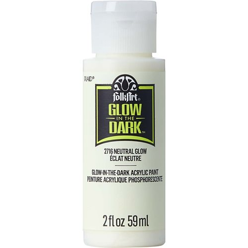 FolkArt ® Glow-in-the-Dark Acrylic Colors - Neutral, 2 oz.