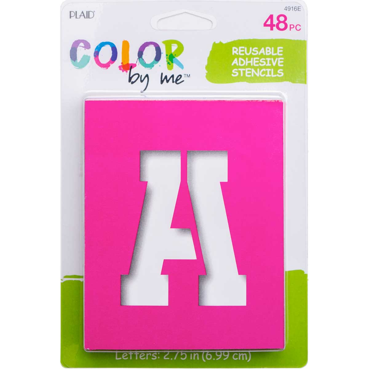 Plaid ® Color By Me™ Adhesive Stencils - Sporty Letters