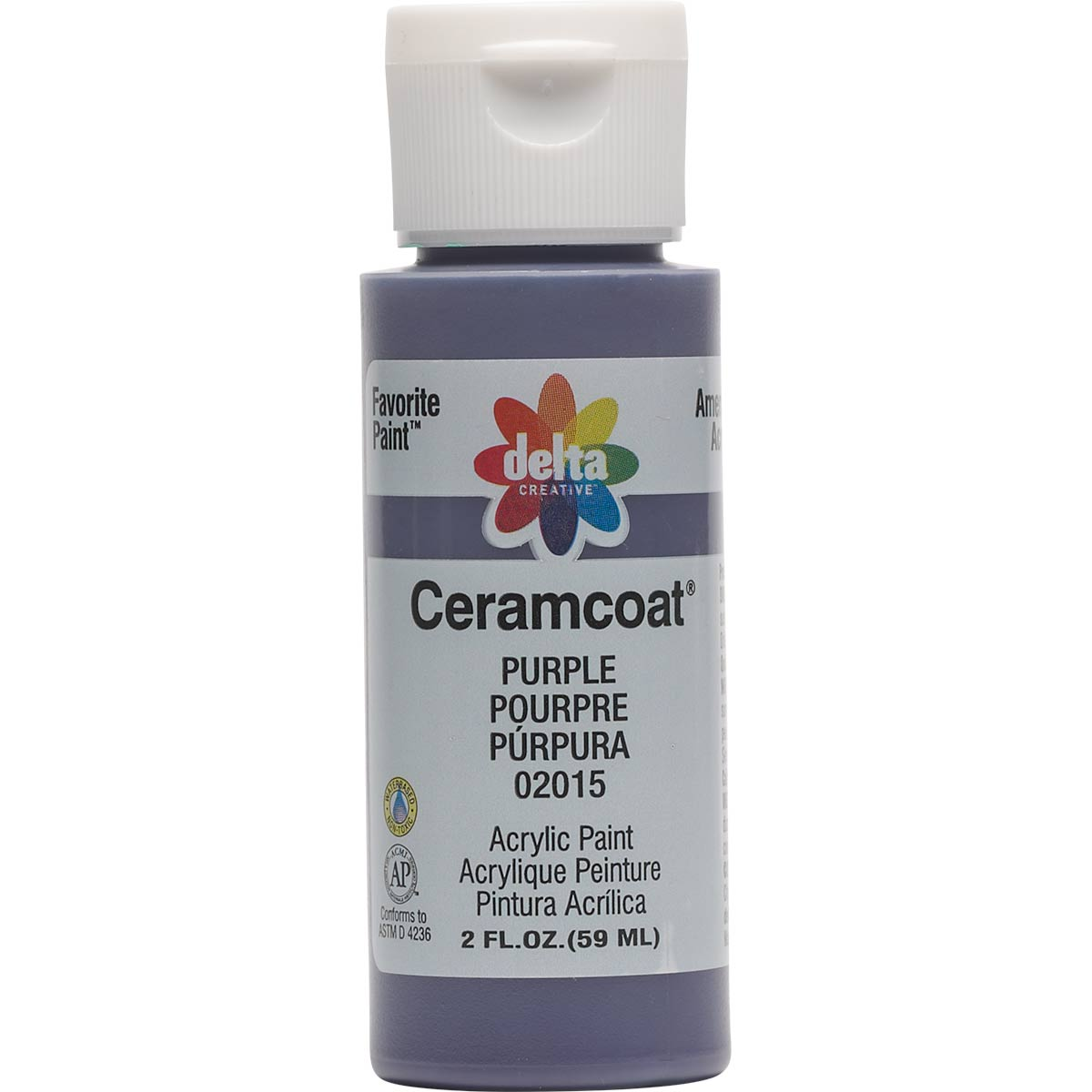 Delta Ceramcoat ® Acrylic Paint - Purple, 2 oz. - 020150202W