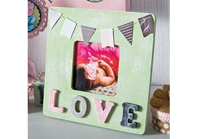 Chalk Finish Love Frame