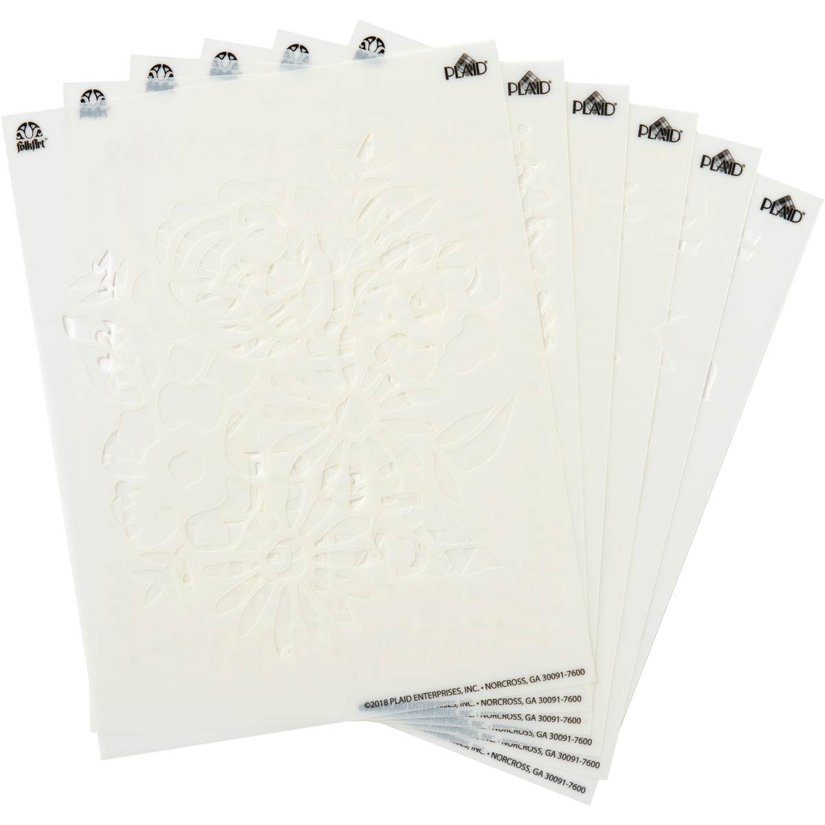 FolkArt ® Craft Stencils - Value Packs - Floral Tradition - 71968