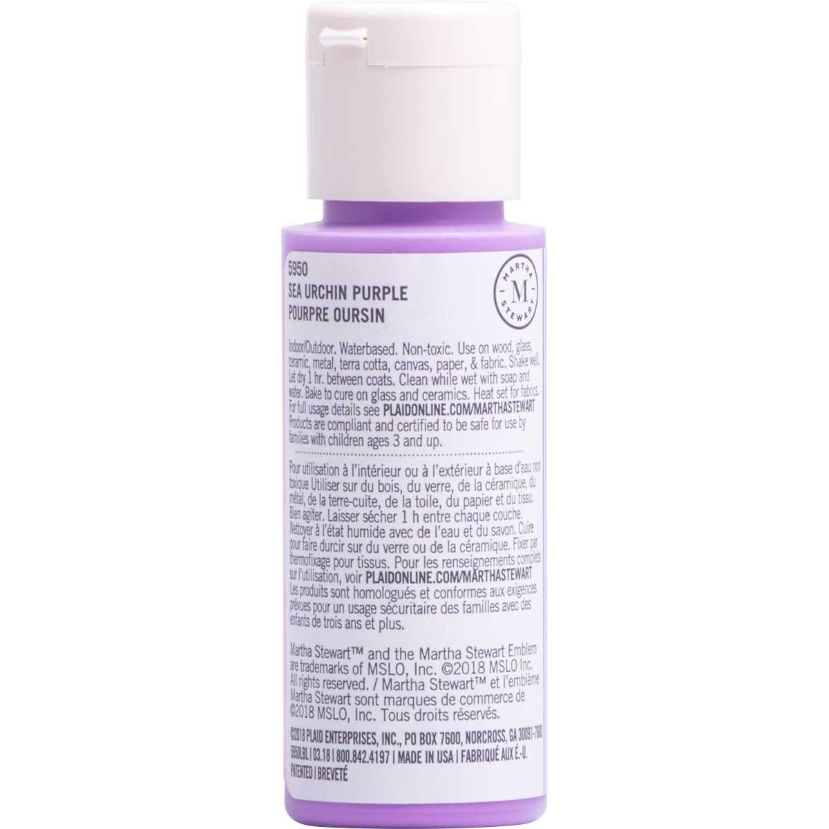 Martha Stewart ® Multi-Surface Satin Acrylic Craft Paint CPSIA - Sea Urchin Purple, 2 oz. - 5950