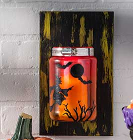 Halloween Silhouette Sconce