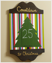 Countdown to Christmas Chalkboard Sign