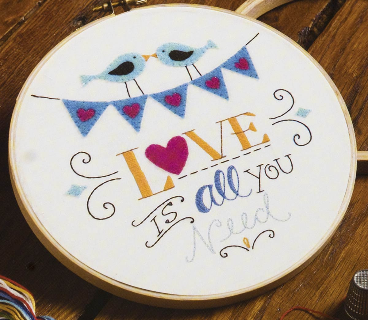 Bucilla ® Stamped Embroidery - Love is All You Need - WM47643E