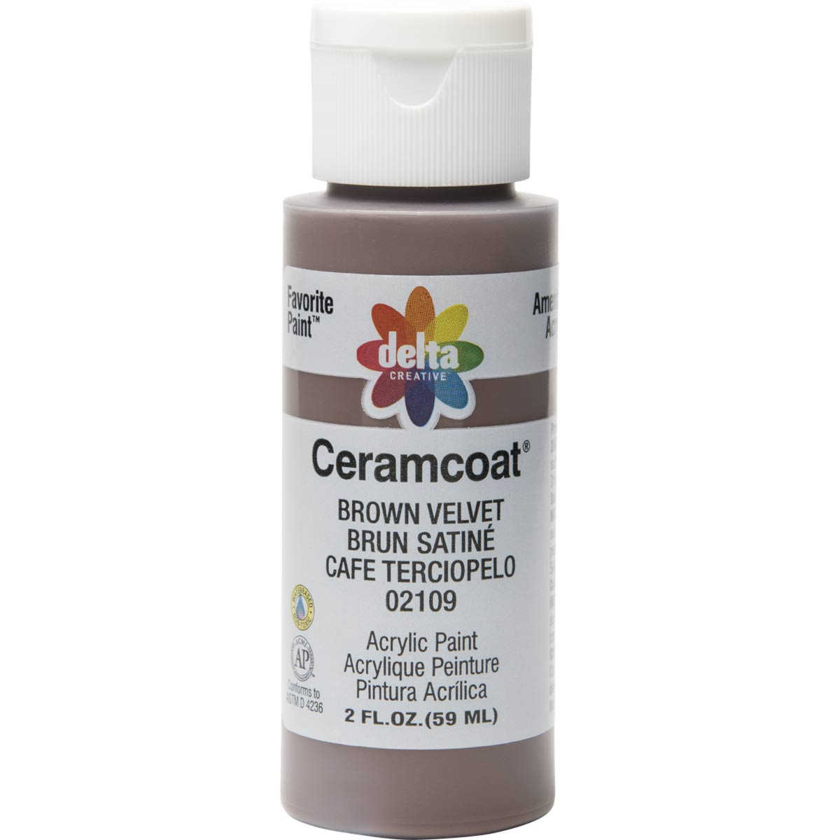 Delta Ceramcoat ® Acrylic Paint - Brown Velvet, 2 oz. - 021090202W