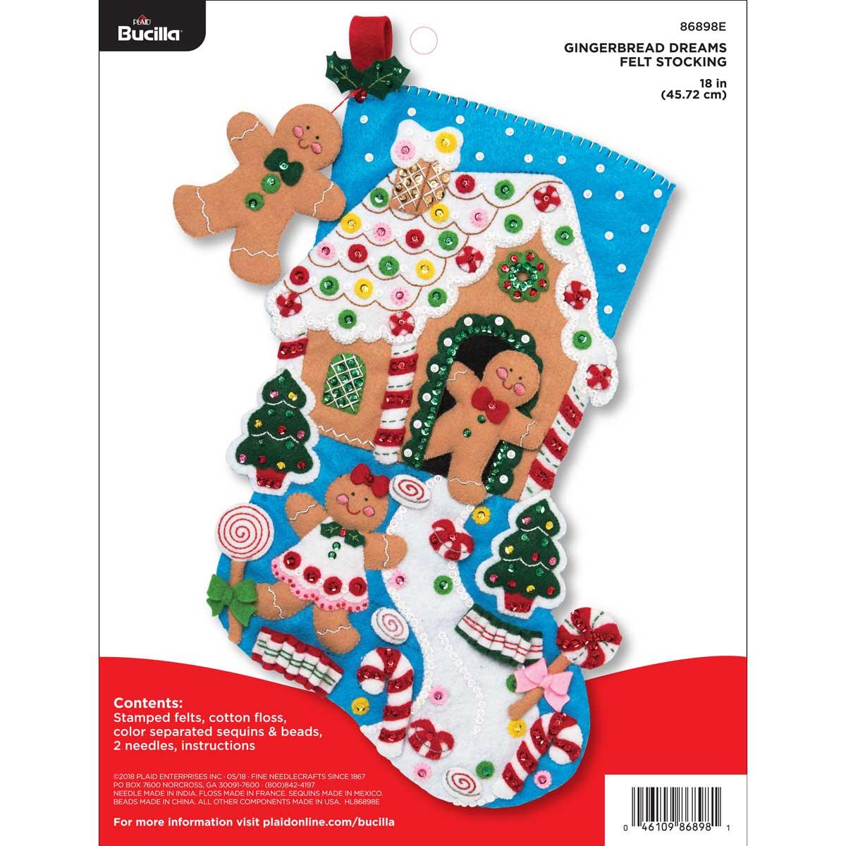 Bucilla ® Seasonal - Felt - Stocking Kits - Gingerbread Dreams