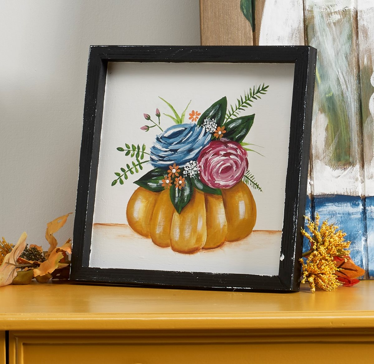 Floral Topped Pumpkin