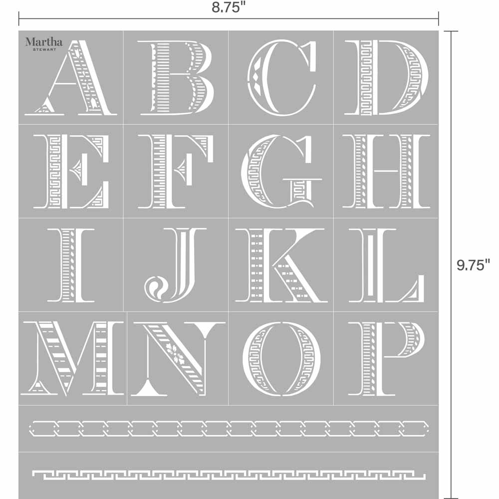 Martha Stewart® Adhesive Stencil - Detailed Monogram