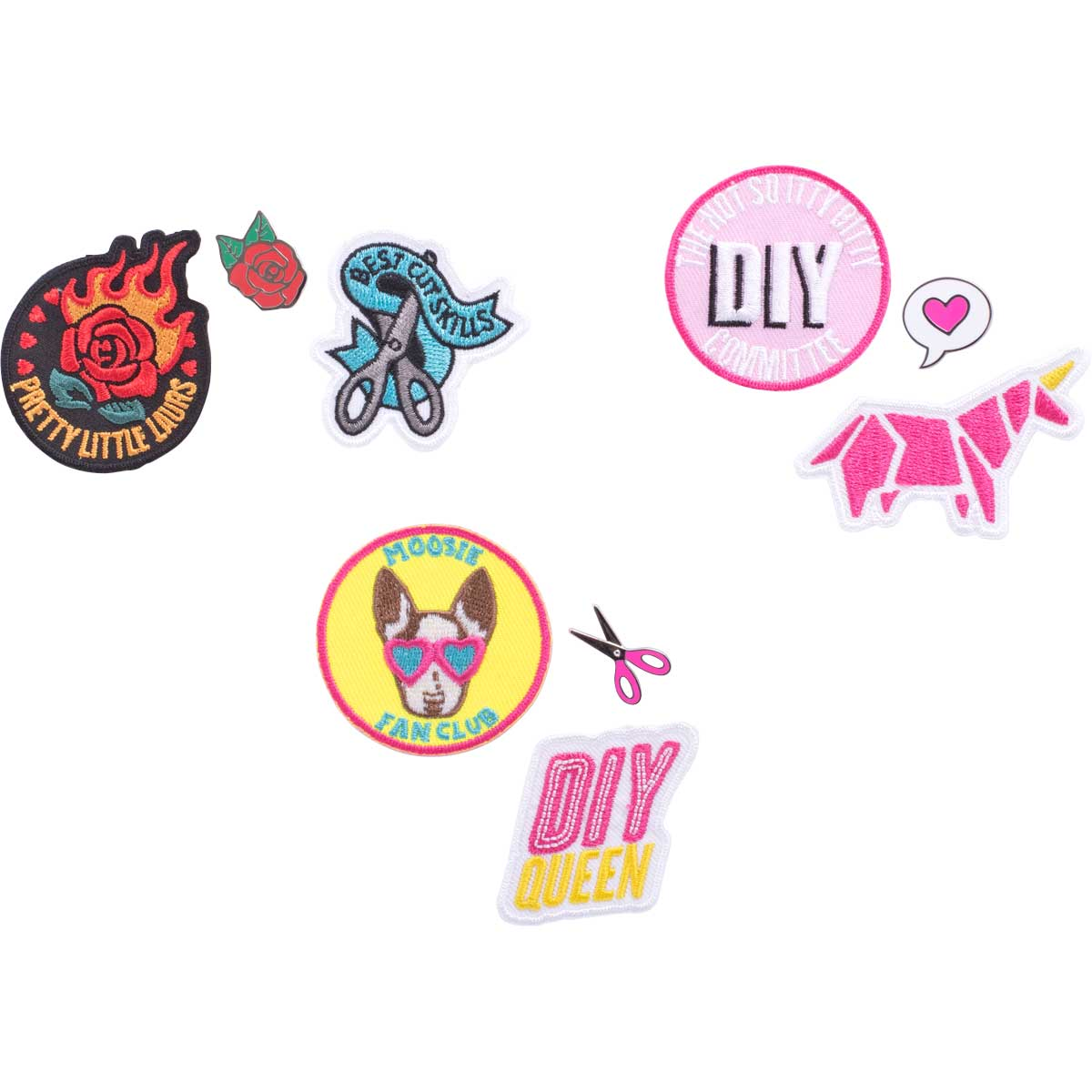 LaurDIY ® Pins & Patches Set
