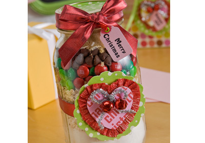 Christmas Cookie Swap Party- Decorated Mason Jar