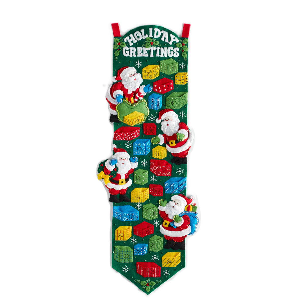 Bucilla ® Seasonal - Felt - Home Decor - Advent Calendar Kits - Santa's Advent Calendar