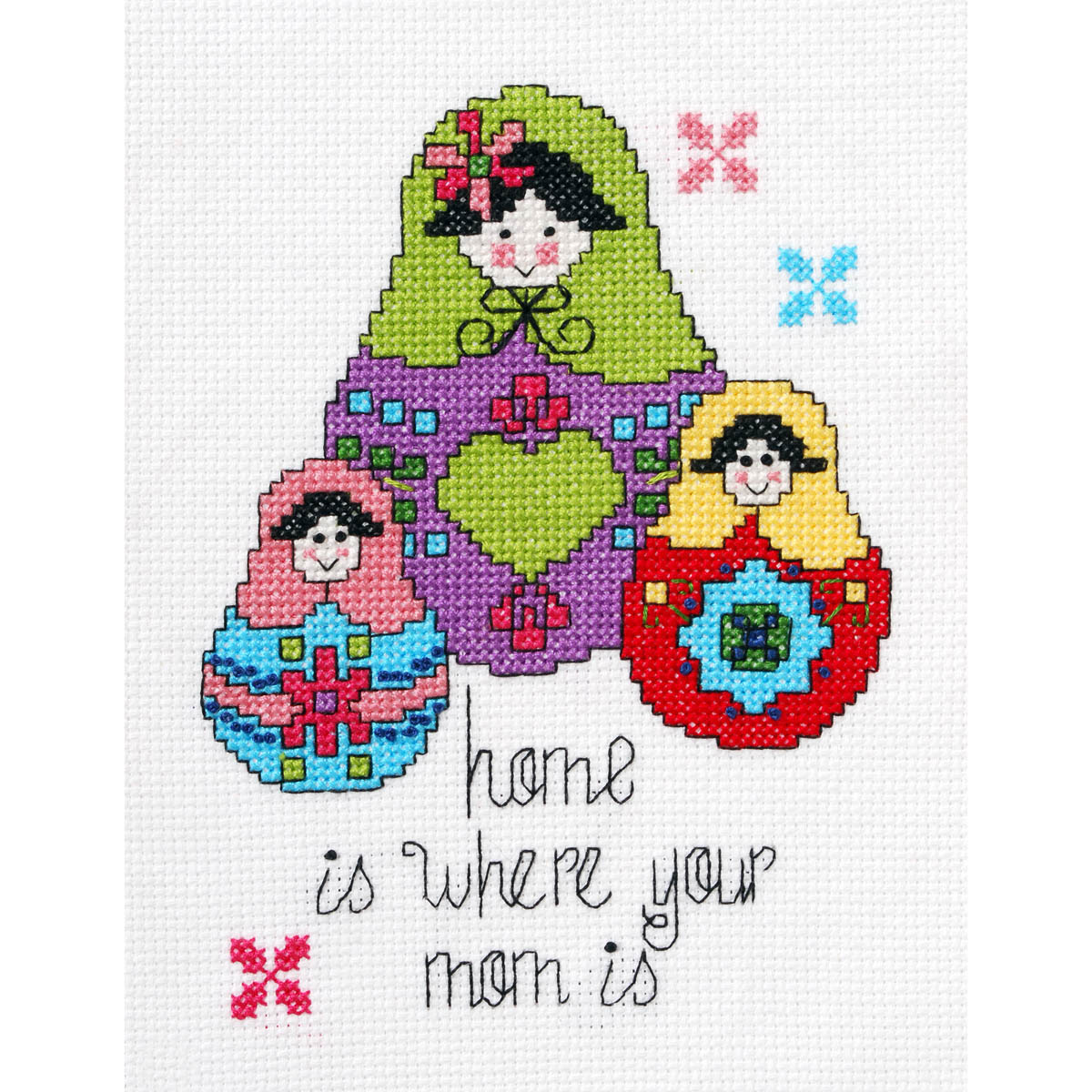 Bucilla ® My 1st Stitch™ - Counted Cross Stitch Kits - Home is Where Your Mom Is
