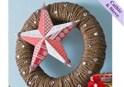Holiday Yarn and Star Wreath