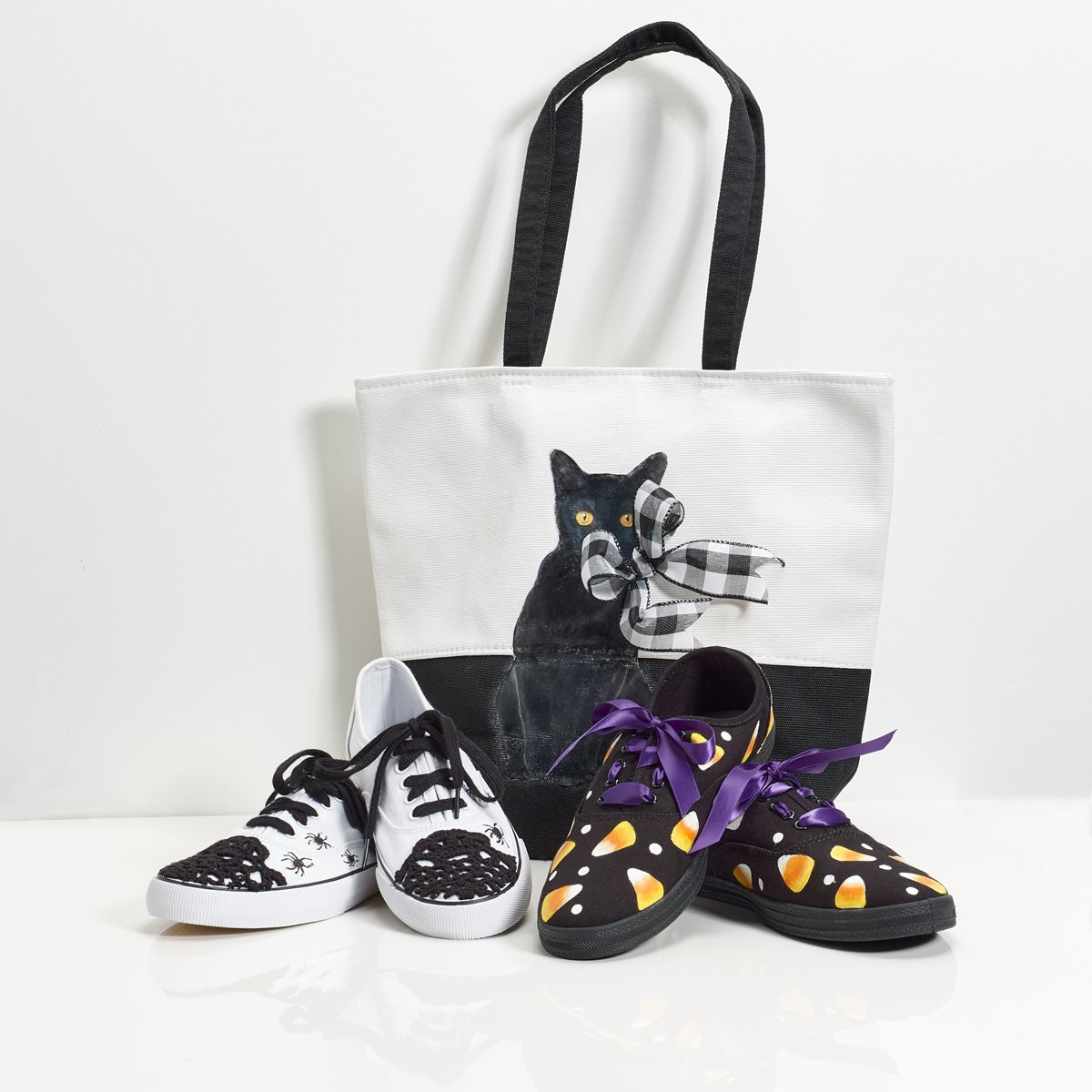 Mod Podge Photo Transfer Black Cat Canvas Tote Bag
