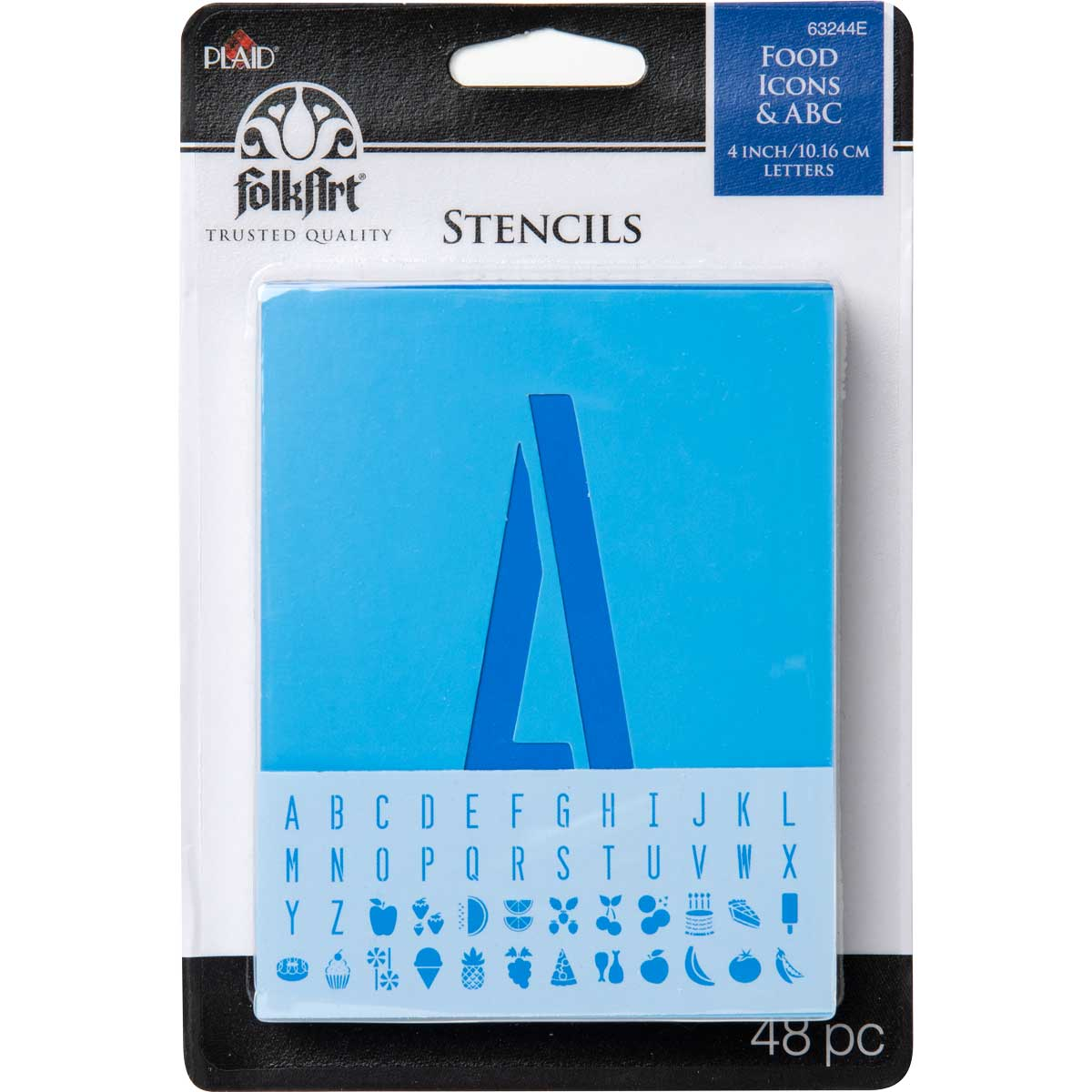FolkArt ® Paper Stencil Value Packs - Food Alphabet and Icons - 63244E