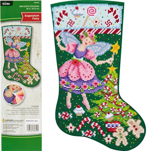 Bucilla ® Seasonal - Gem Dots - Stocking Kits - Sugar Plum Fairy - 89320E
