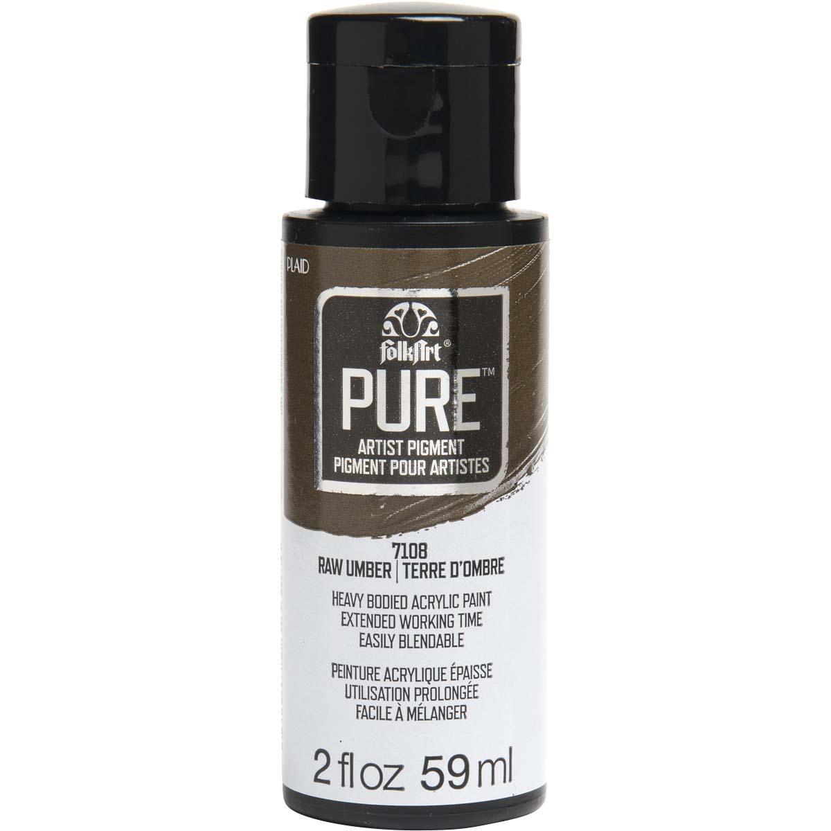 FolkArt ® Pure™ Artist Pigment - Raw Umber, 2 oz. - 7108