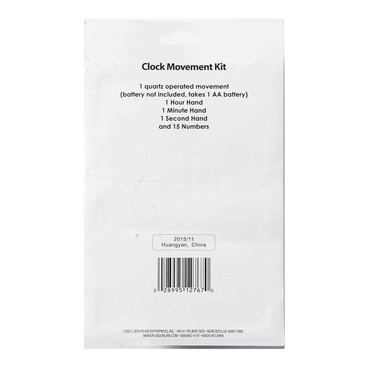 Plaid ® Wood Surfaces - Accessories - Clock Movement Kit, 19 pieces