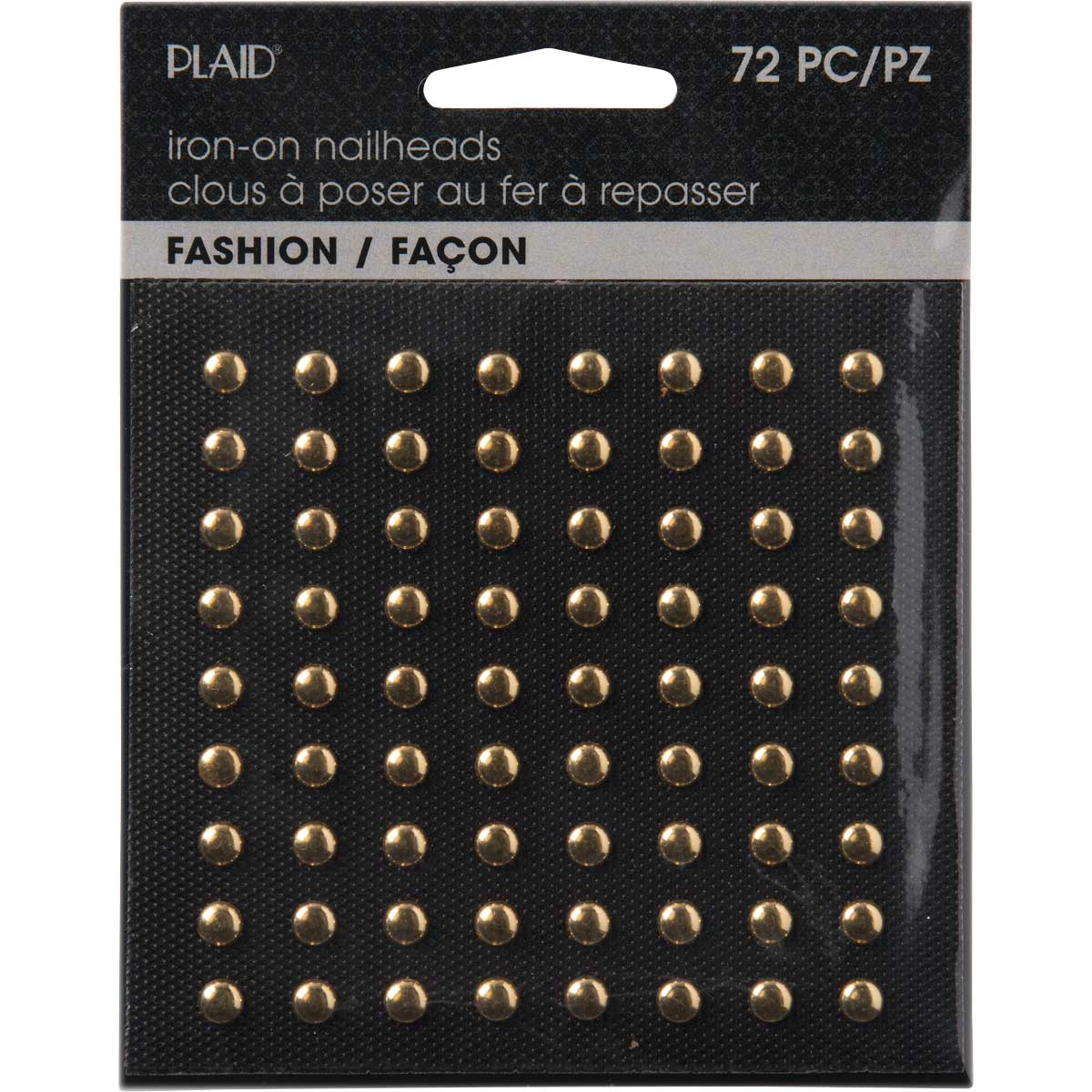 Plaid ® Hot Fix Nailhead Iron-Ons - Round Shiny Gold - 71025